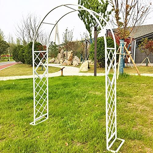 CHRY Arcos de jardín de decoración de Arco de jardín de Rosas de Metal,Cable de Camino con decoración de Globos de Flores con Base de Soporte, Tubo Cuadrado galvanizado de 20 mm