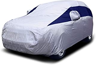 Titan Lightweight Mid-Size SUV Car Cover (Midnight Blue) for Ford Explorer, Jeep Grand Cherokee, and More. Waterproof Cover Measures 206 Inches and Includes a Driver-Side Door Zipper.