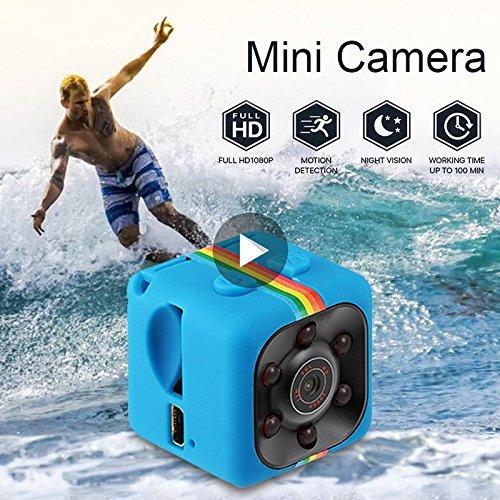 bqlove Mini cámara oculta espía 1080P pequeña HD inalámbrica de vigilancia de seguridad para el hogar, cámara pequeña encubierta con visión nocturna y detección de movimiento, videocámara compacta para interiores y exteriores