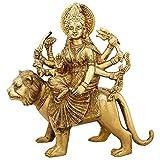 ShalinIndiaドゥルガー女神像真鍮Sitting Indianホーム飾り、11インチ、weight-4.2KG