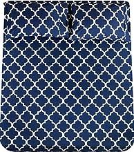 Utopia Bedding - Juego Sábanas de Cama Estampadas - Microfibra Cepillada - Sábanas y 2 Fundas de Almohada - (Cama 150, Azul Marino)