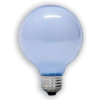 GE 48695-6 40 Watt Reveal Globe G25 Light Bulb, Frosted, 6 ...