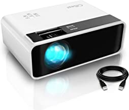 "Mini Projector, CiBest Video Projector Outdoor Movie Projector, 4200 lux LED Portable Home Theater Projector 1080P and 200"" Supported, Compatible with PS4, PC via HDMI, VGA, TF, AV and USB"