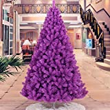 Decoración navideña para árbol de Navidad (2,1 m), color morado