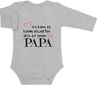 Shirtgeil Ich Kann Es Kaum Erwarten Dich Zu Sehen Papa Baby Langarm Body