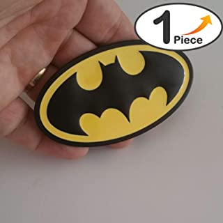 Batman Black Yellow Metal Hq 3D Badge Car Trunk Side Door Fender Auto Emblem Logo Adhesive [1 Piece][5219BKYW][TOTUMY]