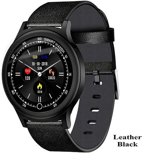 YF&FS Montre Intelligente Bracelet Surveillance de la fréquence Cardiaque de la Pression artérielle Support étanche IP68 Montre Intelligente Horloge pour Hommes Femmes