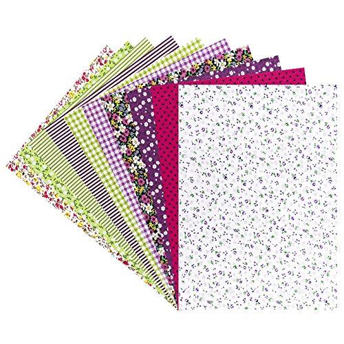 Selbstklebende Deko-Stoffe, verschiedene Designs, DIN A4, 10 Bogen (Vielfalt 4)