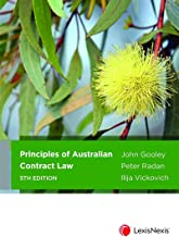 Principles of Australian Contract Law, 5th edition