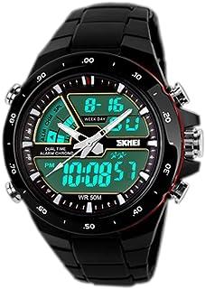 b315cb1e8 SunJas Reloj Deportivo para Hombres Resistente contra Agua de 50m Pulsera  Digital con Luces Banda Desmontable