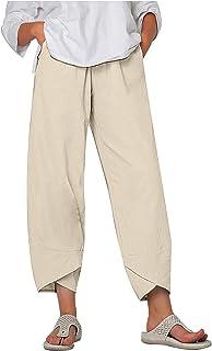 Damen Übergröße Lange Hose Locker Winter Fleecefutter Hose Taschen Hose