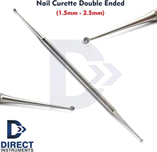 Professional Double Ended Nail Curette 1.5/2.5mm Dermal Ingrown Toe-Nail Cleaner Scoop Chiropody Podiatry Tools