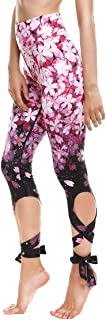 Womens Digital Print High Waisted Workout Capri Leggings Tights