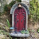 Décoration miniature originale et sympa en forme de porte de lutins/fée/elfes pour arbre de jardin ou maison, hauteur 9cm