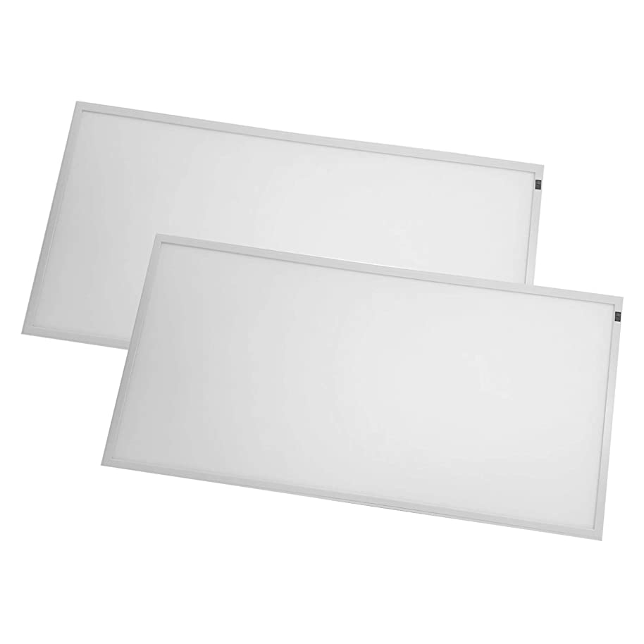 2-Pack, 2ft x 4ft LED Flat Panel - 50W - Dimmable - 6250 Lumens - 3000K Bright White