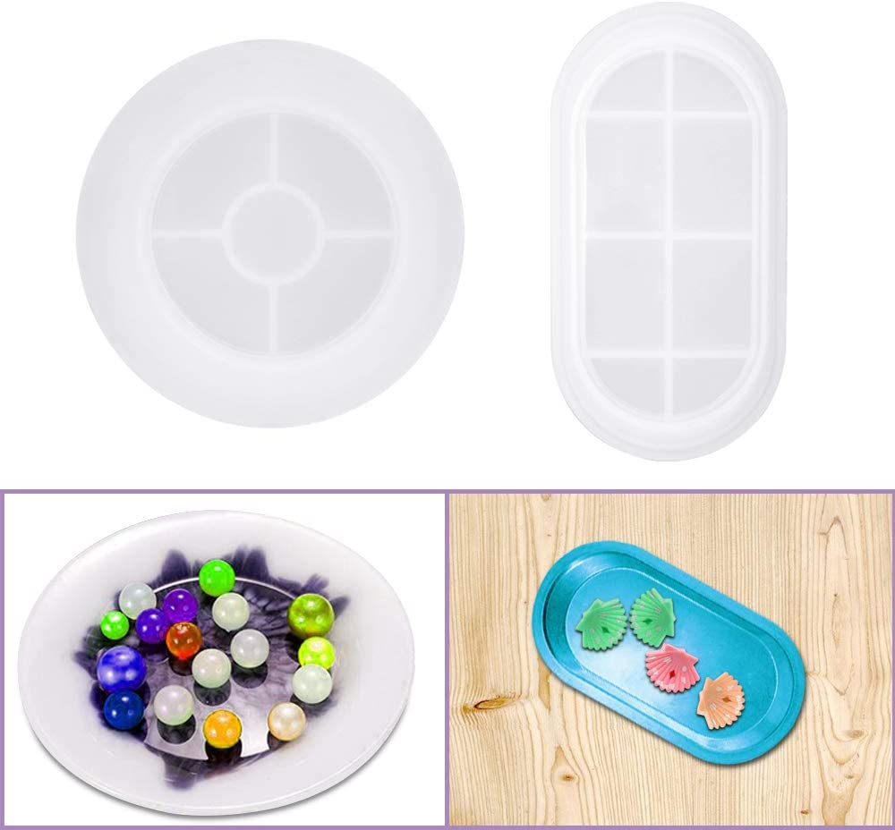 2 Pack Silicone Resin Moulds FineGood Mould Elegant J for Casting Topics on TV