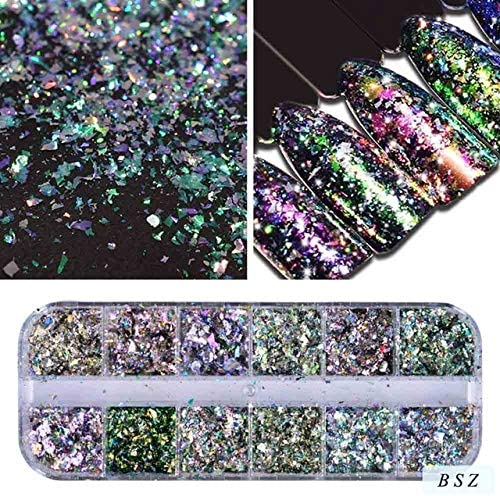 outlet Gabcus 31 Types Nail Glitter Mix Dust New color Color Shiny Chamele Flakes