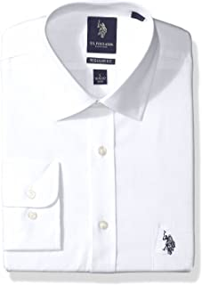 Men's Regular Fit Solid Semi Spread Collar Dress Shirt