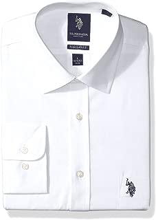 U.S. Polo Assn. Mens Solid Broadcloth Semi Spread Collar Dress Shirt