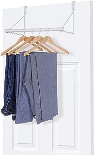 Amazon Brand – Umi Porte Manteau Mural, Porte-vêtement pour la Porte, 45,7x31x25,4, Blanc