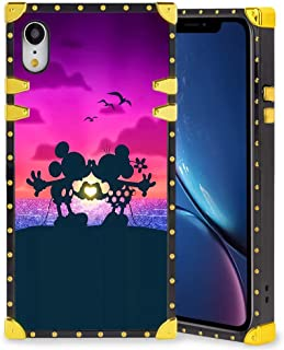 DISNEY COLLECTION Square Case Compatible iPhone XR 6.1 Inch Best Mickey Mouse Love Elegant Soft TPU Full Body Shockproof Protective Case Metal Decoration Corner Back Cover iPhone XR Case