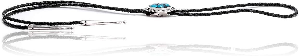 $350 Retail Tag Sun Silver Certified Authentic Handmade Navajo Native American Bolo Tie 24558