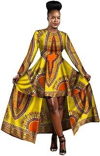 2019 African Dresses for Women Dashiki Cotton Wax Print Batik Sexy Long Dress for Femal Traditional Clothing