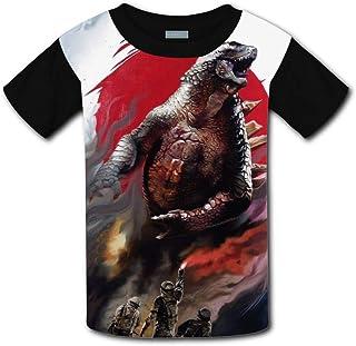 Kids 3D Printed Godzilla 2 King Monsters Poste 2019 Round Collar Short Sleeve Kids T- Shirt