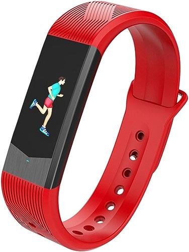 MDMMBB Couleur écran Intelligent Bracelet podomètre Mesure de la fréquence Cardiaque Pression artérielle Exercice Sommeil santé Veille Vieil Homme Courant Unisexe