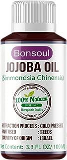 BONSOUL 100% Pure Cold Pressed Unrefined Jojoba Oil (100 ML)