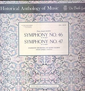 Historical Anthology of Music - The Bach Guild - -Franz Joseph Haydn Symphony No. 46 in B Major & Symphony No. 47 in G Major - (12