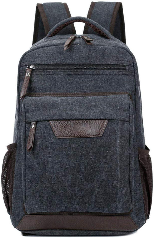 DHFUD Rucksack Herrenmode Leinwand Reisetasche Rucksack Mit Hoher Kapazitt Student Bag