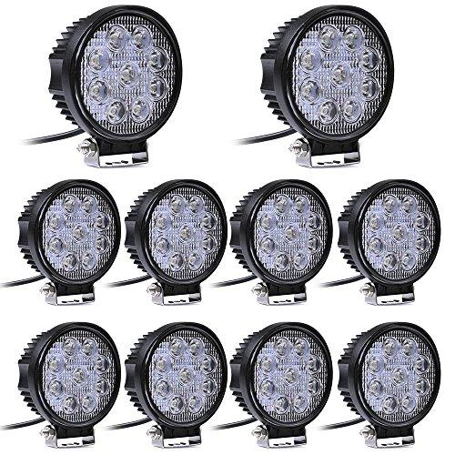 Miracle - Foco de trabajo y para vehículos (10 x 27 W, 12 V, 24 V LED)
