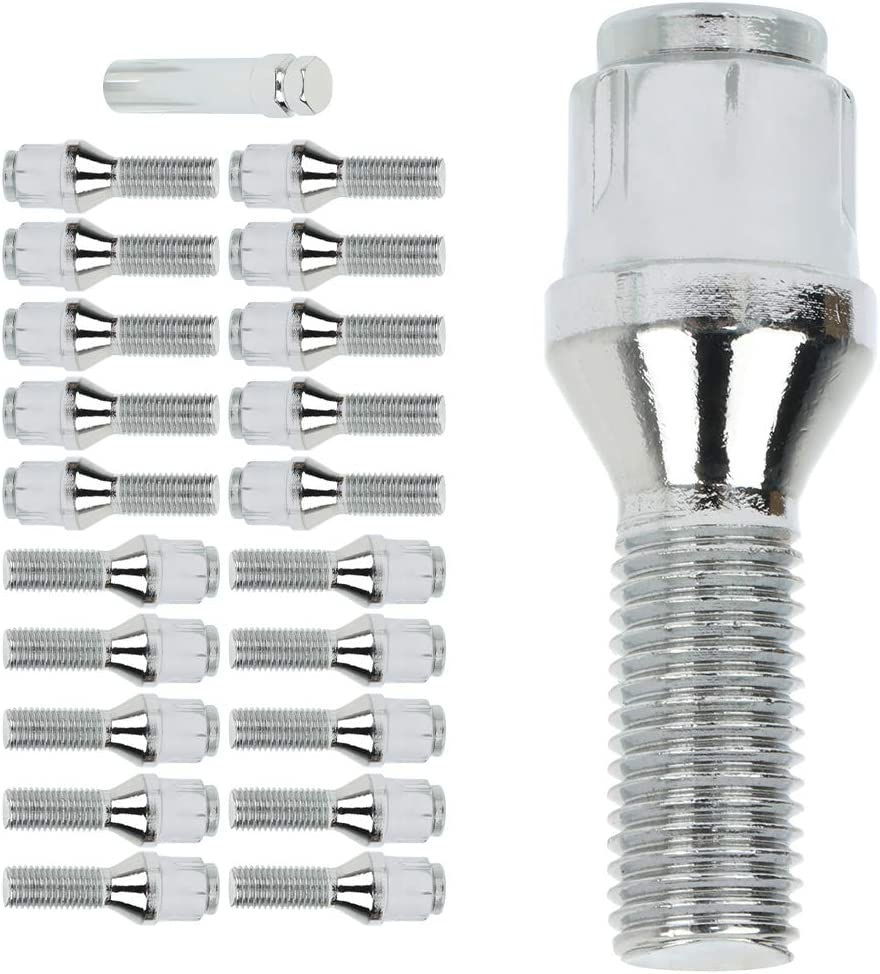 ANPART Wheel Lug Sales for sale Bolt 12x1.5 20 Max 54% OFF Shank Silver Length Pieces 28mm