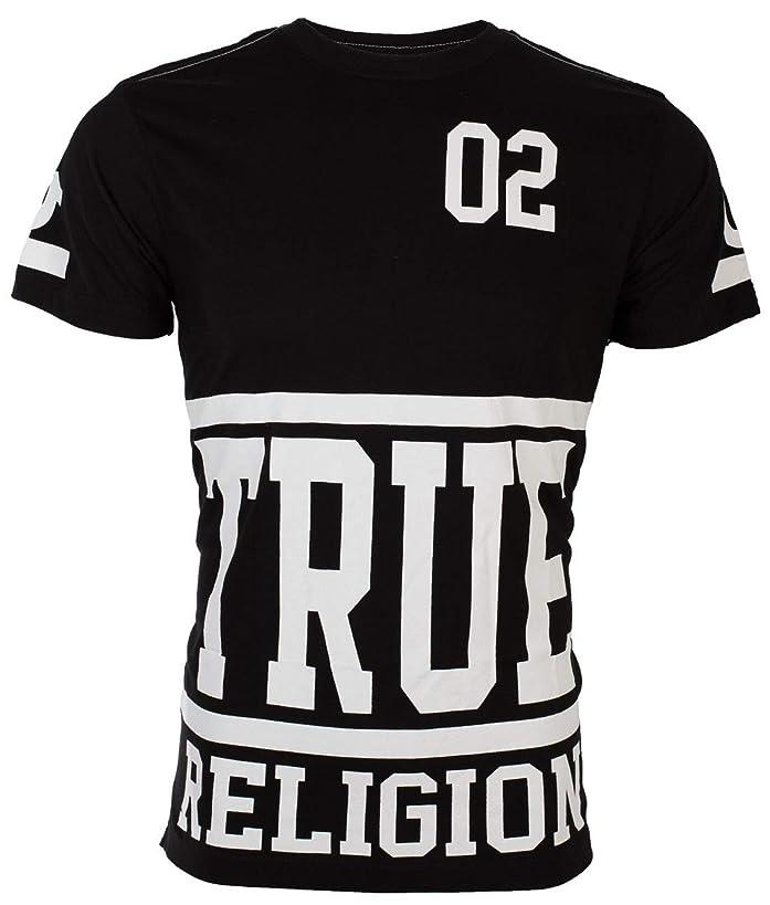 True Religion? Mens T-Shirt Starter Black with White Print