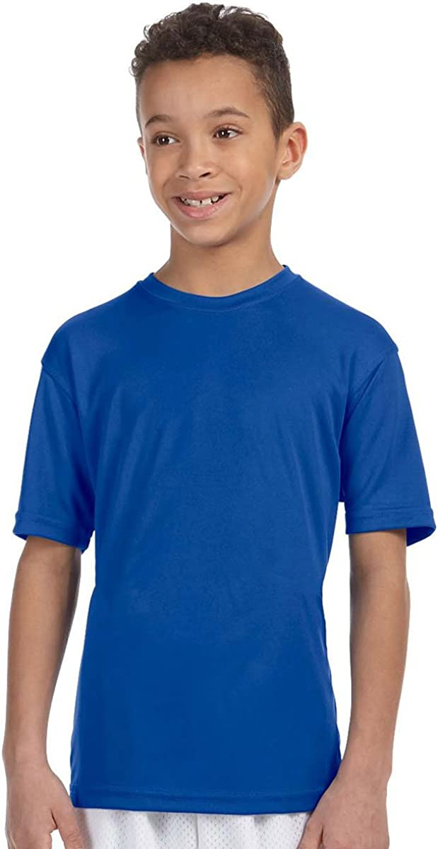 Harriton Youth Comfortable Fit Athletic Sport T-Shirt, TRUE ROYAL, X-Large