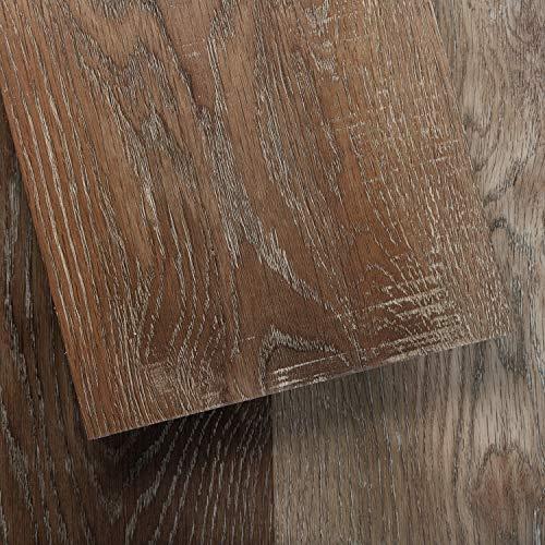 Luxury Vinyl Floor Tiles by Lucida USA | Glue-Down Adhesive Flooring for DIY Installation | 16 Wood-Look Planks | GlueCore+ | 39 Sq. Feet