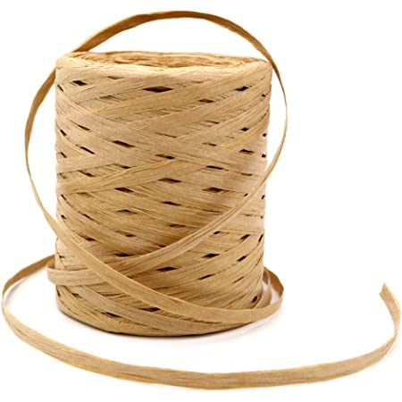 50 Yards Red Paper Raffia Twist Paper Cord Small Twigs Floral Stem Wire Craft Kit for Gift Wrapping Paper Bows Pumpkin Woven Paper Baskets Party Streamers Garlands Christmas Fall Holiday Decor