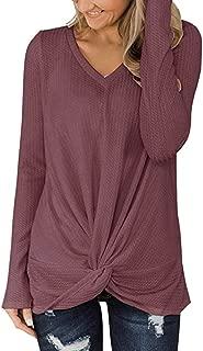 Pullover Ladies Sweater Knit Jumper Sexy Shirt Elegant Blouse Loose Sweatshirt V-Collar Solid Long Sleeve Shirts