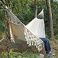 HAOLAIWU Hammock Boho Large Brazilian Macrame Fringe 2 Person Double Deluxe Hammock Swing Net Chair Indoor Hanging Chair Hammock Swings-A_01