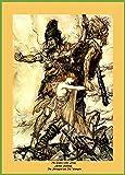World of Art Arthur Rackham The Giants Seize Freia, von The