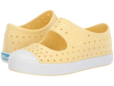 Native Kids Shoes Juniper (Little Kid) (Gone Bananas Yellow/Shell White) Girls Shoes