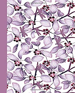 Journal: Dragonflies (Purple) 8x10 - LINED JOURNAL - Writing journal with blank lined pages