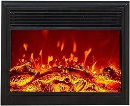 Chimenea Eléctrica Empotrada - Estufa Empotrable De Pared Con W/Logs 3D Flames Ornamental - Inserte El Enchufe Y El Sensor Más Seguro - 1500W / Negro,Upper air outlet,74×18×60cm
