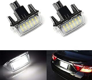 MOLEAQI 2pcs 18 LED lampadina lampadina Targa Auto per T-oyota Camry Yaris C-orolla Fielder Vitz Avensis V-ERSO
