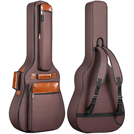 CAHAYA Guitar Bag 40 41 42 Inches 6 Pockets Guitar Case Waterproof Oxford Cloth 0.5 Inch Extra Thick Sponge Overly Padded for Acoustic Classical Guitar with Anti-theft Pocket