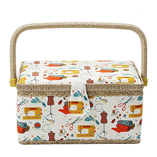 D&D Sewing Basket Kit - Sewing Basket Organizer for Needles, Thread, Tape Measure, Thimbles and...