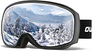 OlarHike Ski Snow Goggles for Men and Women, Anti-Fog Over Glasses Snowboard Goggles with UV Protection, Windproof Helmet Compatible Dual Lens Goggles for Skiing & Skating & Outdoor Sport, UV400