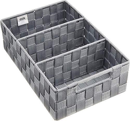 WENKO Organizer Adria mit Griff, Badorganizer, 32 x 10 x 21 cm, grau