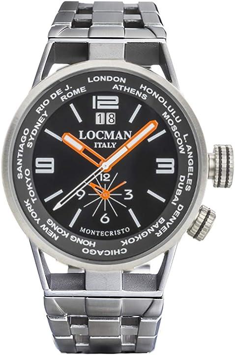 Orologio locman montecristo acciaio acciaio 0508A01S-00BKWHB0